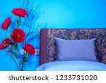 modern bedroom decoration with... | Shutterstock . vector #1233731020