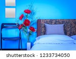 modern bedroom decoration with... | Shutterstock . vector #1233734050