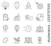 linear startup icons set....