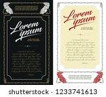vector template flyer ... | Shutterstock .eps vector #1233741613