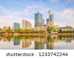view of frankfurt city skyline... | Shutterstock . vector #1233742246