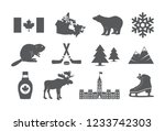 canada icons set | Shutterstock .eps vector #1233742303