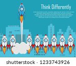 think differently   being... | Shutterstock .eps vector #1233743926