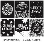 merry christmas and new year... | Shutterstock .eps vector #1233746896