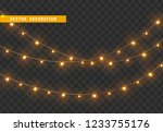 christmas decorations  isolated ... | Shutterstock .eps vector #1233755176