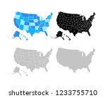 blank similar usa map isolated... | Shutterstock .eps vector #1233755710