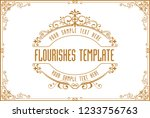 gold border design  frame photo ... | Shutterstock .eps vector #1233756763