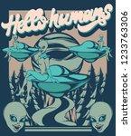 hello humans. vector hand drawn ...   Shutterstock .eps vector #1233763306