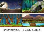 set of nature landscape at... | Shutterstock .eps vector #1233766816