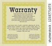 yellow warranty certificate...   Shutterstock .eps vector #1233771073