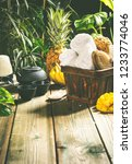tropical spa setting   against... | Shutterstock . vector #1233774046