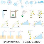 course drawings of simple... | Shutterstock .eps vector #1233776809