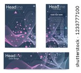 set flyer  brochure size a4... | Shutterstock .eps vector #1233777100
