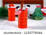 christmas santa claus in... | Shutterstock . vector #1233778366