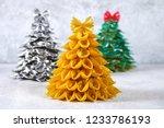 how to make a christmas tree... | Shutterstock . vector #1233786193