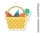 basket   vegetable   eggplant   | Shutterstock .eps vector #1233787216
