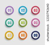 vector 3d set of round buttons... | Shutterstock .eps vector #1233792640