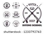 diving school deep water promo...   Shutterstock .eps vector #1233792763