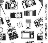 camera photograph  portable old ... | Shutterstock .eps vector #1233793009