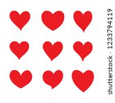 set of hearts  vector icon. | Shutterstock .eps vector #1233794119