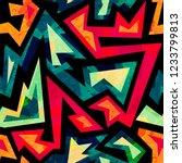 african geometric seamless...   Shutterstock . vector #1233799813