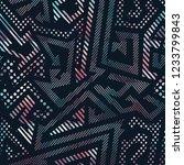 abstract geometric seamless... | Shutterstock . vector #1233799843