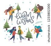 vector winter season set.... | Shutterstock .eps vector #1233802300
