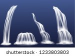 waterfall or water cascade... | Shutterstock .eps vector #1233803803