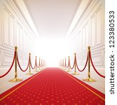 a 3d illustration of red carpet ... | Shutterstock . vector #123380533