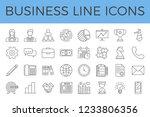 business related vector line... | Shutterstock .eps vector #1233806356