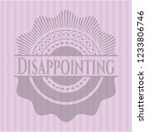 disappointing badge with pink... | Shutterstock .eps vector #1233806746