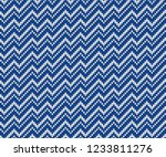 fair isle design. seamless... | Shutterstock .eps vector #1233811276