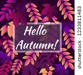autumn banner with the... | Shutterstock .eps vector #1233811483