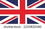 united kingdom flag. flag of...   Shutterstock .eps vector #1233820180