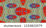 seamless folk pattern. ethnic... | Shutterstock .eps vector #1233823579
