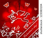 illustration with cupid  ... | Shutterstock .eps vector #123383104