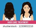 hair care treatment. brunette... | Shutterstock .eps vector #1233832210