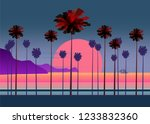 summer vacation road  tropical...   Shutterstock .eps vector #1233832360
