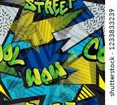 abstract bright graffiti... | Shutterstock .eps vector #1233833239