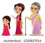 an indian female growth stages  ... | Shutterstock .eps vector #1233837016