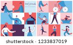 vector banner with the group of ... | Shutterstock .eps vector #1233837019