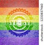 bye bye on mosaic background... | Shutterstock .eps vector #1233837460