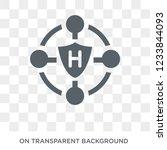 hybrid app icon. trendy flat... | Shutterstock .eps vector #1233844093