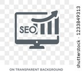 seo ranking icon. trendy flat... | Shutterstock .eps vector #1233849313