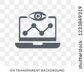 seo monitoring icon. trendy... | Shutterstock .eps vector #1233849319