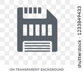 floppy disk icon. trendy flat... | Shutterstock .eps vector #1233849433