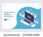 landing page template... | Shutterstock .eps vector #1233851500