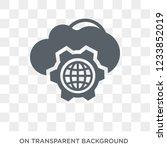 cyberspace icon. trendy flat... | Shutterstock .eps vector #1233852019