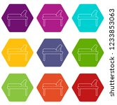 medical bed icons 9 set coloful ...   Shutterstock .eps vector #1233853063