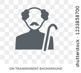 pensioner icon. trendy flat...   Shutterstock .eps vector #1233858700